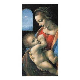 Madonna Litta by Leonardo da Vinci Card