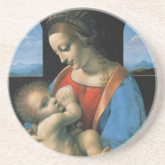 Madonna Litta by Leonardo Da Vinci Drink Coaster