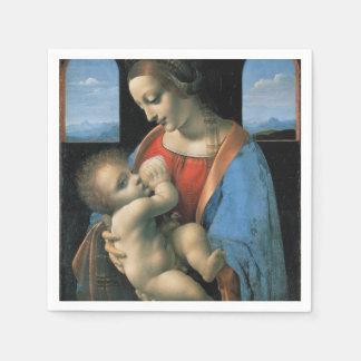 Madonna Litta by Leonardo da Vinci Paper Napkin