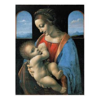 Madonna Litta by Leonardo da Vinci Postcards
