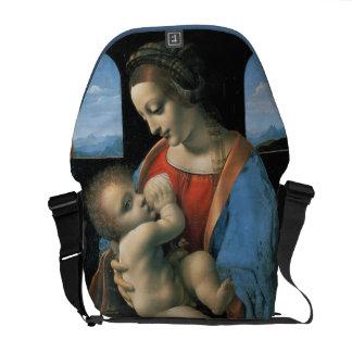 Madonna Litta de Leonardo da Vinci Bolsa De Mensajería