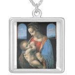 Madonna Litta de Leonardo da Vinci C. 1490-1491 Pendientes Personalizados