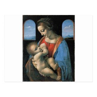 Madonna Litta de Leonardo da Vinci C. 1490-1491 Postales