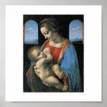 Madonna Litta de Leonardo da Vinci C. 1490-1491 Póster