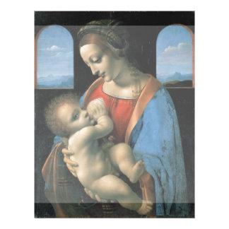 """Madonna Litta de Leonardo da Vinci Folleto 8.5"""" X 11"""""""