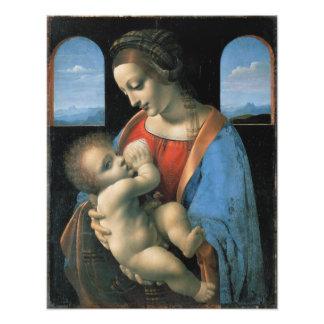Madonna Litta de Leonardo da Vinci Arte Fotográfico