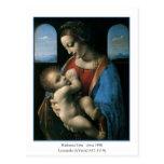 Madonna Litta de Leonardo da Vinci Postal