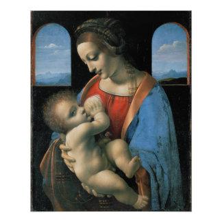 Madonna Litta de Leonardo da Vinci