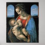 Madonna Litta, Leonardo da Vinci Póster