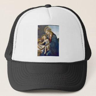 Madonna Madona Child Book religion painting Trucker Hat