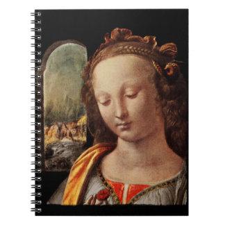 Madonna mir der nelke spiral notebook