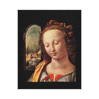 Madonna mit der nelke canvas prints