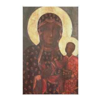 Madonna negro de Jasna Gora Impresión En Lona