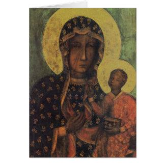 Madonna negro de la tarjeta de felicitación de Cze