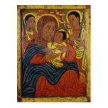 Madonna negro etíope con el niño de Cristo Postal