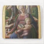 Madonna, niño Enthroned, ángeles de Filippo Lippi Tapete De Ratón