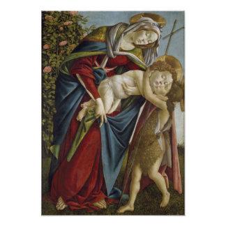 Madonna, niño, St John el Bautista por Botticelli Fotografías
