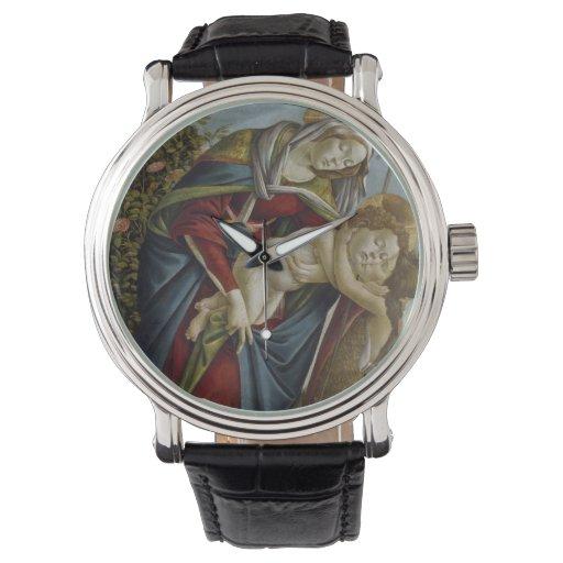 Madonna, niño, St John el Bautista por Botticelli Reloj