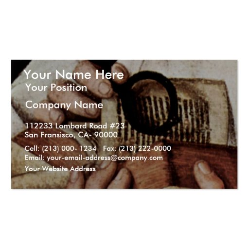 Madonna Of Canon George Van Der Paele Details: Bib Double-Sided Standard Business Cards (Pack Of 100)