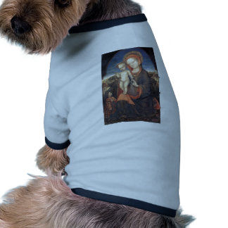 Madonna of Humility adored by Jacopo Bellini Dog Tee Shirt