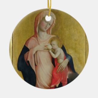 Madonna of Humility, c.1410 (tempera on panel) Ceramic Ornament