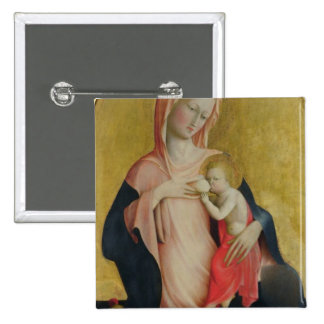Madonna of Humility, c.1410 (tempera on panel) Pinback Button