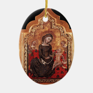 MADONNA OF HUMILITY CERAMIC ORNAMENT