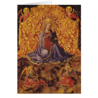 Madonna of Humility with Christ Child and Angels Card