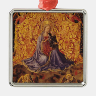 Madonna of Humility with Christ Child and Angels Metal Ornament