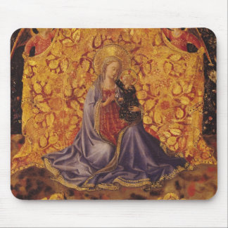 Madonna of Humility with Christ Child and Angels Mouse Pad