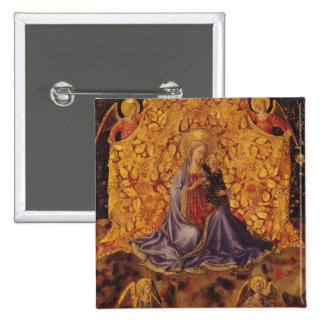 Madonna of Humility with Christ Child and Angels Pinback Button