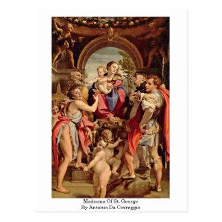 Madonna Of St. George By Antonio Da Correggio Postcard