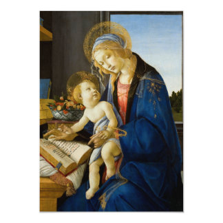 Madonna of the Book by Botticelli Card