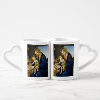Madonna of the Book by Botticelli Coffee Mug Set