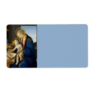 Madonna of the Book by Botticelli Label