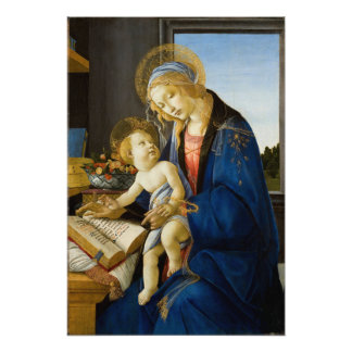 Madonna of the Book by Botticelli Photo Print