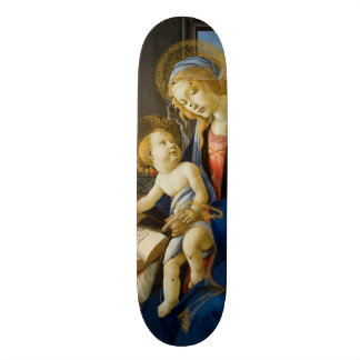 Madonna of the Book by Botticelli Skateboard