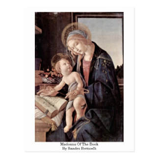 Madonna Of The Book By Sandro Botticelli Post Cards