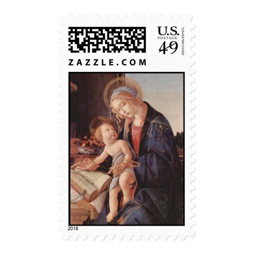Madonna of the Book Postage Stamp