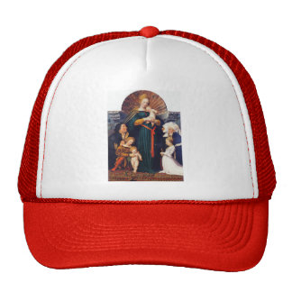 Madonna of the Burgermeister Meyer by Hans Holbein Mesh Hat