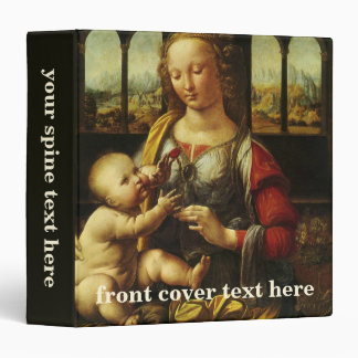 Madonna of the Carnation by Leonardo da Vinci 3 Ring Binder