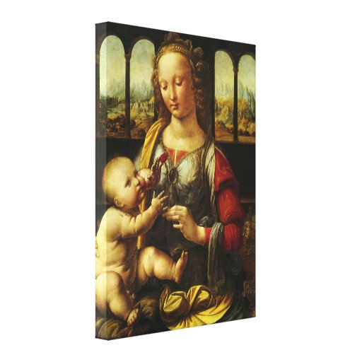 Madonna of the Carnation by Leonardo da Vinci Gallery Wrapped Canvas