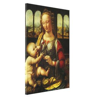 Madonna of the Carnation by Leonardo da Vinci Canvas Print