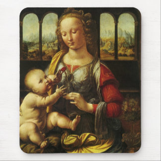 Madonna of the Carnation by Leonardo da Vinci Mouse Pad