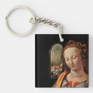 Madonna of the Carnation Keychain