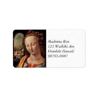 Madonna of the Carnation Label