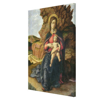 Madonna of the Cave, 1488-90 (tempera on panel) Canvas Print