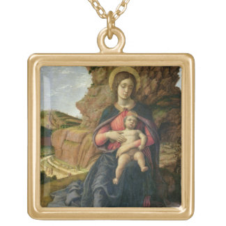 Madonna of the Cave, 1488-90 (tempera on panel) Gold Plated Necklace