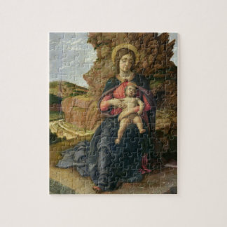 Madonna of the Cave, 1488-90 (tempera on panel) Jigsaw Puzzle