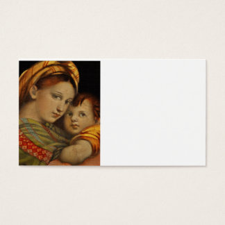 Madonna of the Chair Business Card
